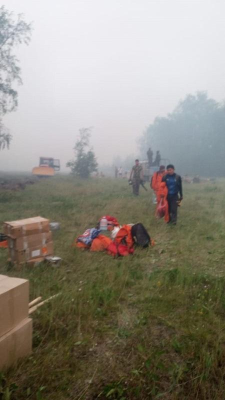 Продолжаются лесные пожары возле Якутска