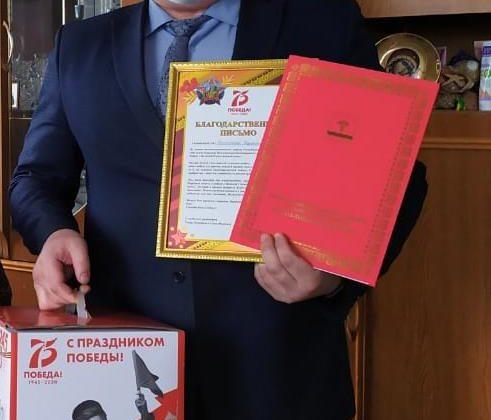 Начальник Олекминского РЭС Сахаэнерго Иван Кузаков поздравил ветерана